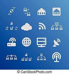 Communication icons - Communication interface web network...