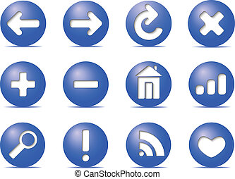 Communication icons on buttons