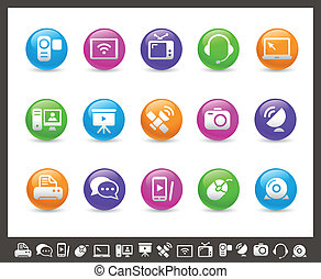 Communication Icons // Rainbow Seri - Vector icons for your...