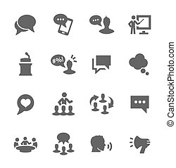 Communication icons - Simple set of communication related ...