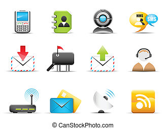 Vector set of communication icons.