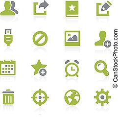 Communication Interface. Natura - Icons for your web, mobile...