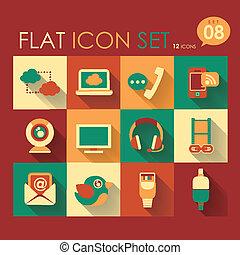 communication & internet icon set