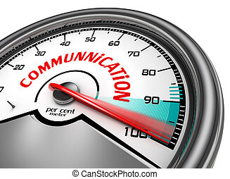 Communication level hundred per cent conceptual meter
