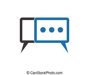 communication logo template design