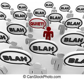 communication, mauvais, -, calme