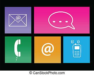 Communication Metro Icons