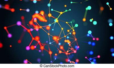 communication, moléculaire, concept, structure