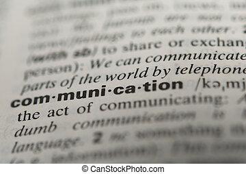communication, mot, définition