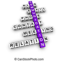 communication, mots croisés