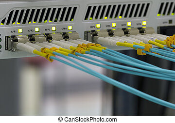 communication, optique fibres, panneau