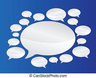 communication, parole, bulles