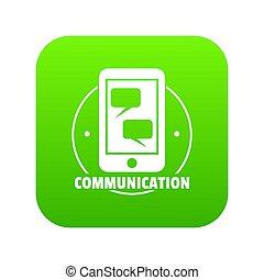 Communication phone icon green