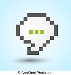 Communication pixel speech bubble
