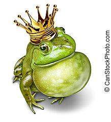 communication, prince, grenouille