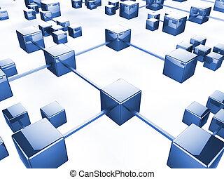 communication, réseau, indique, bavarder, gestion réseau, et, toile