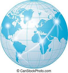 communication, réseau, mondiale
