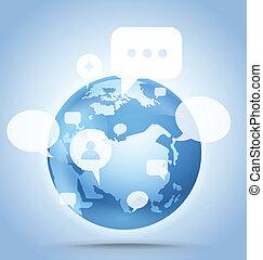 communication, résumé, global, plan, la terre
