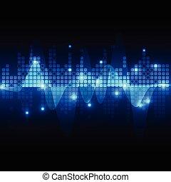 communication, résumé, vecteur, technologie, fond