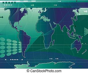 communication;, resumen, mapa del mundo