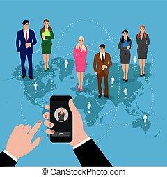 communication, roaming concept