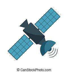 Communication satellite technology isolated