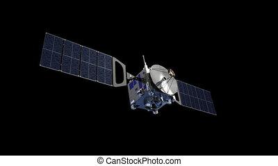 Communication Satellite With Alpha Matte