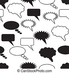 communication seamless pattern