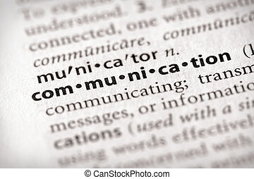 """Communication - Selective focus on the word """"communication..."""
