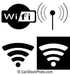 communication, set., icône