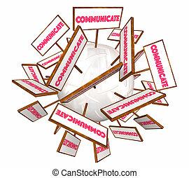 Communication Signs Information Communicate 3d Illustration