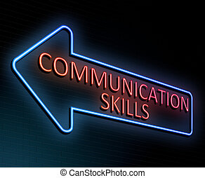 Communication skills concept.