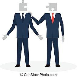 Communication skils concept - Understand each other, team...