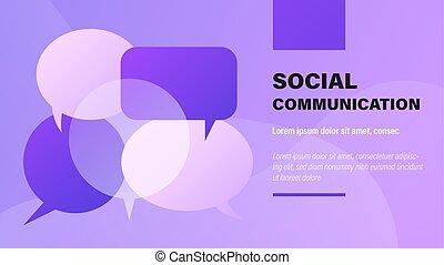 communication., sociale