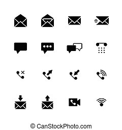 Communication solid icon
