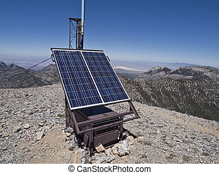 communication, station, solaire