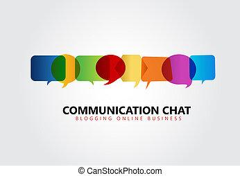 Communication symbol logo