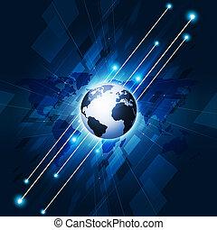 Communication Technology Concept Interface