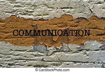 Communication text grunge concept