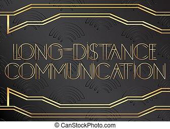 communication, text., interurbain, deco art