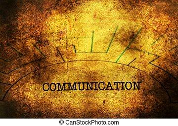 Communication text on maze grunge concept