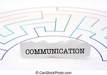 communication, texte, labyrinthe