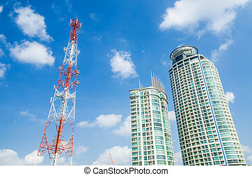 Communication tower and building