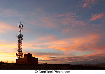 Communication tower showing antennas