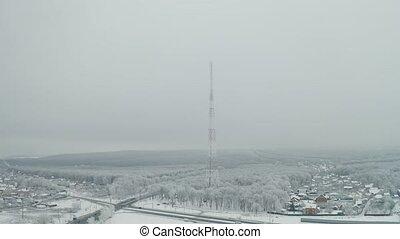 Communication tower winter - Telecommunication tower...