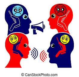 Communication Training - Two people learn to respecting each...