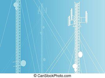 Communication transmission tower radio signal phone antenna