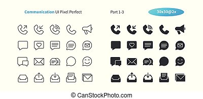 Communication UI Pixel Perfect Well-crafted Vector Thin Line And Solid Icons 30 2x Grid for Web Graphics and Apps. Simple Minimal Pictogram Part 1-3