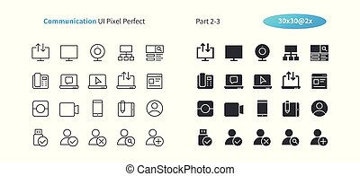 Communication UI Pixel Perfect Well-crafted Vector Thin Line And Solid Icons 30 2x Grid for Web Graphics and Apps. Simple Minimal Pictogram Part 2-3