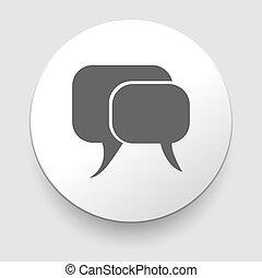communication, vecteur, illustration, icône